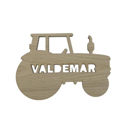 Image of   Traktor navneskilt – træ