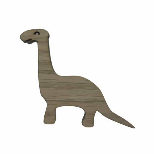 Dino langhals knage i egetræsfiner til børneværelset