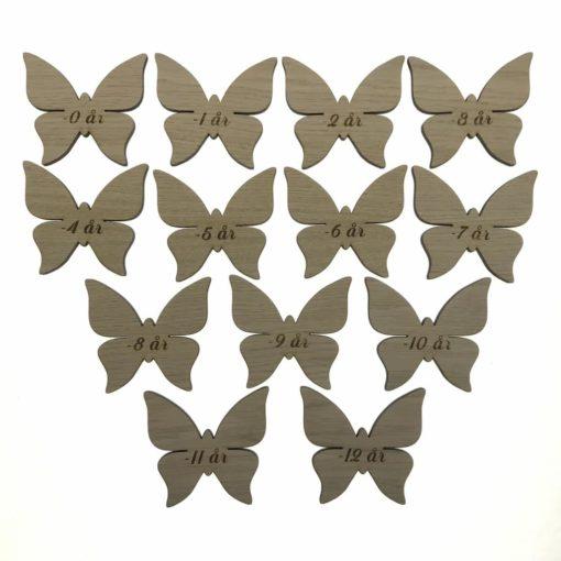 Højdemåler sommerfugl mærker 13 stk
