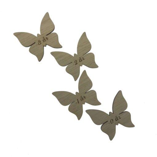 Højdemåler til pigeværelset, sommerfugle mærker