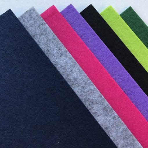 Forskellige farver på filt