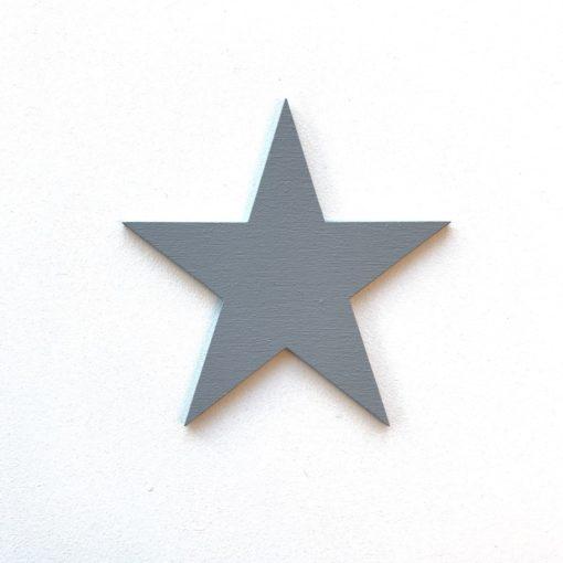 stjerne dekoration på væg i børneværelse, wood sticker - grå
