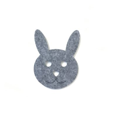 Grå filt kanin til baby ranke