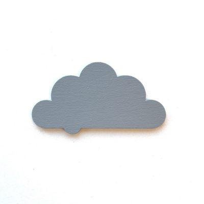 10 cm sky i 3 mm malet træ - grå