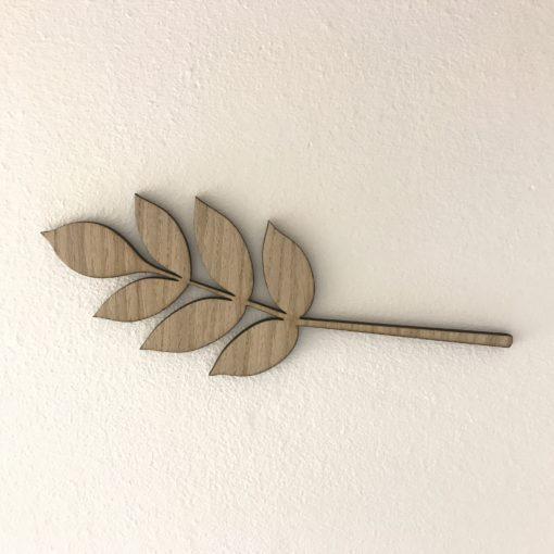 smuk gren med 7 blade på væg