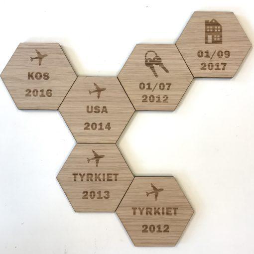 design plade med hus og dato