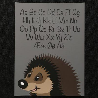 ABC plakat med pindsvin