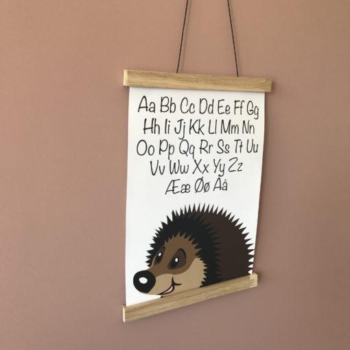 Alfabet plakat til pigeværelse