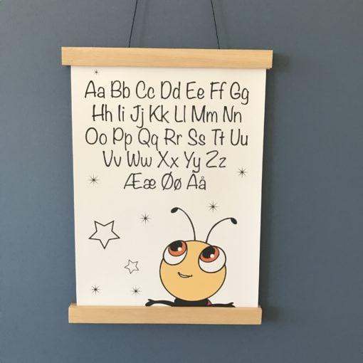 alfabet plakat til drengeværelse