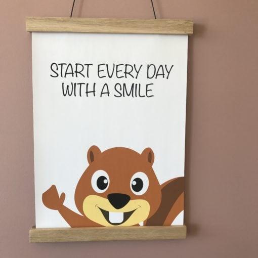 Egern plakat A4 til pigeværelse