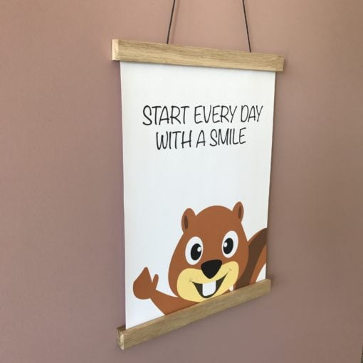 Start every day, egern plakat