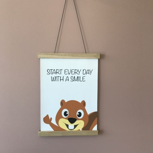 Egern plakat til børne med citat
