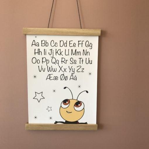 Billig plakat til børn med alfabet