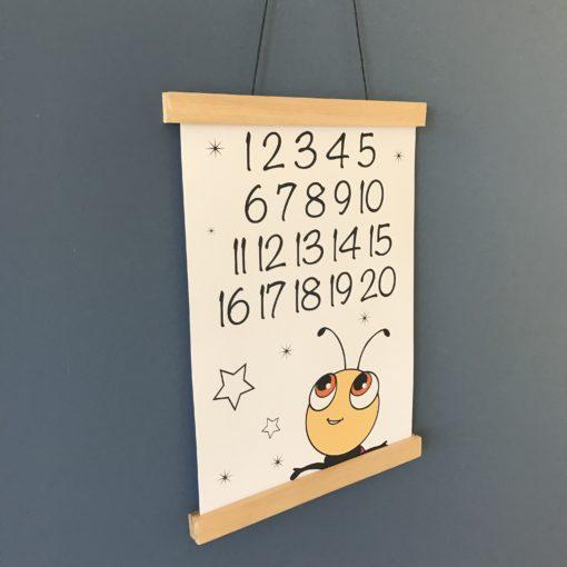 Mariehøne plakat til drengeværelse