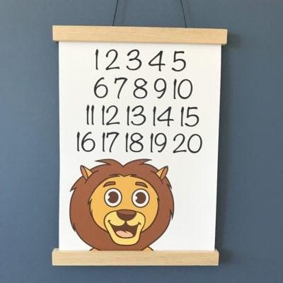 tal plakat med løve 1 -20