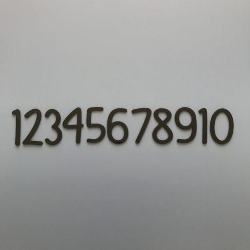Smukke tal skåret i 3 mm sort akryl