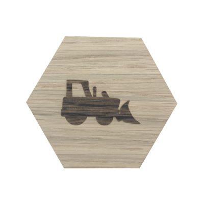 bulldozer på design plade