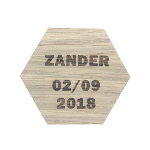 navn og dato på design plade