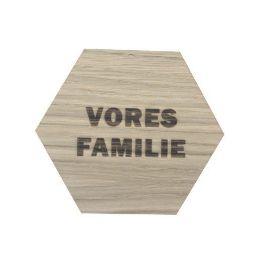 Vores familie design plade