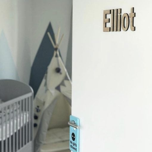 Elliot - små bogstaver til børneværelse