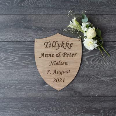 Bryllupsskjold - skilt til æresport 2021