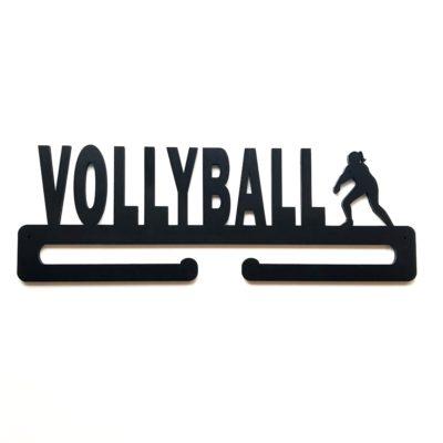 kvinde volleyball spiller medaljeholder med navn i sort