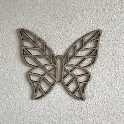 Geometric sommerfugl med hul krop som vægdekoration