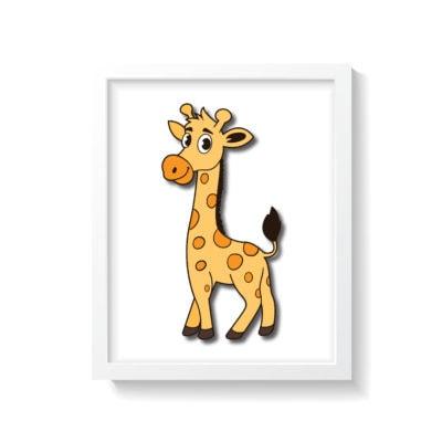 Giraf plakat til børneværelse