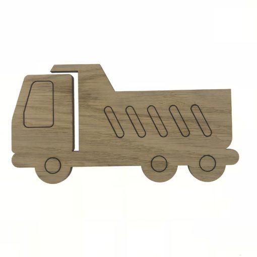Lastbil egetræsfiner - vægdekoration