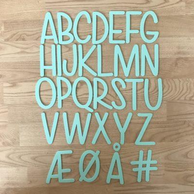 Alfabet A-Å – Grøn akryl - lær bogstaver