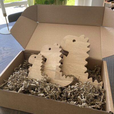 Dino sæt lavet af egetræ