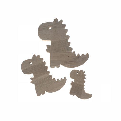 18 mm egetræ træfigurer dino t-rex