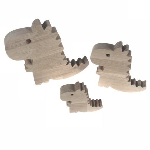 t-rex dino træfigurer – sæt af 3 stk