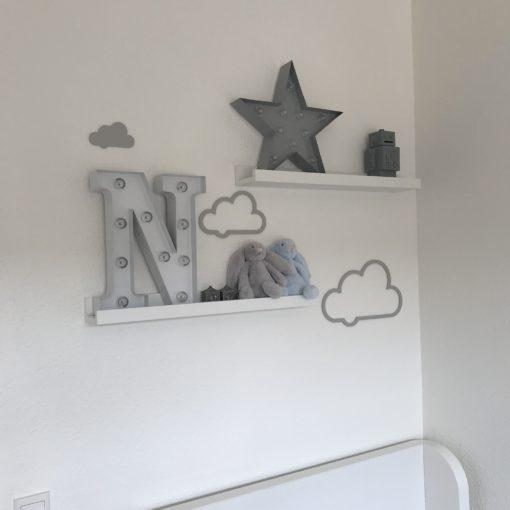 Skrå sky sæt af 3 stk i grå akryl