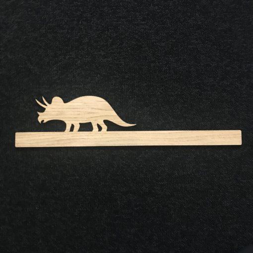Triceratops - børneværelse - egetræsfiner