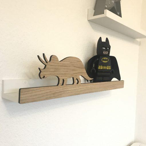 Triceratops Hyldefront til Ikea hylde - Børneværelse