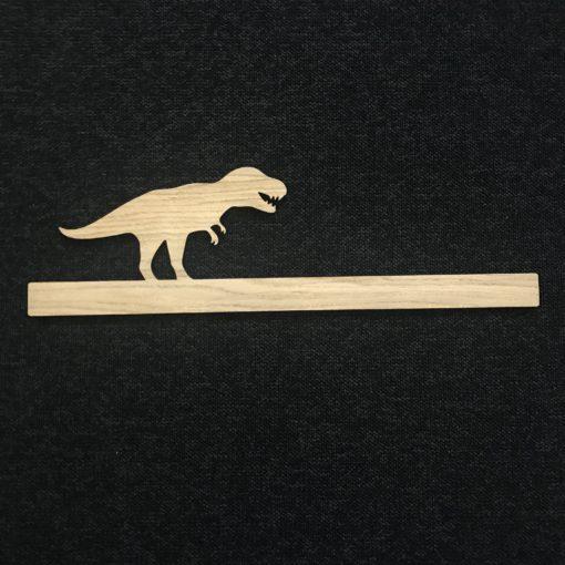 Hyldefront med T-rex dino - egetræsfiner
