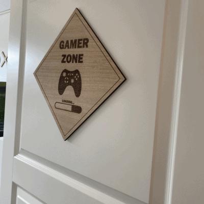 Gamer zone dørskilt x-box