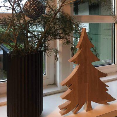Juletræ uden stjerne - egetræ - julepynt