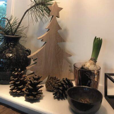 Juletræ med stjerne - jule pynt
