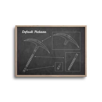 gamer blueprint plakat i moderne design