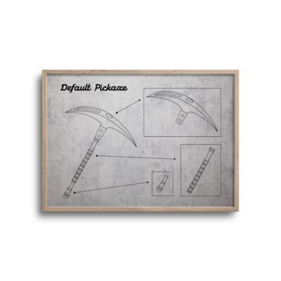 Gamer blueprint lys baggrund - default pickaxe