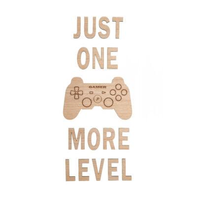 gamer citat på væg med controller