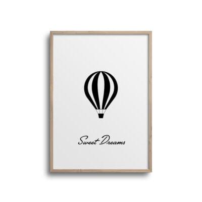 luftballon plakat sweet dreams minimalistisk design