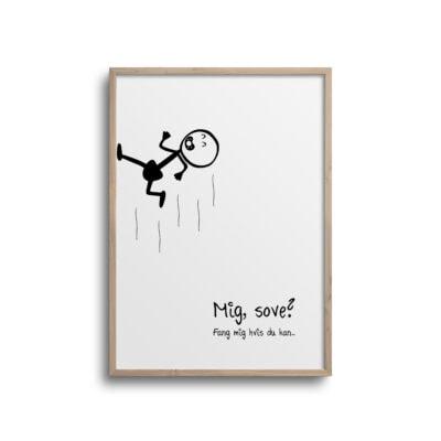 stick baby plakat i minimalistisk design