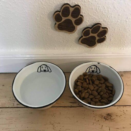 Hundepoter til at sætte på væggen - egetræsfiner