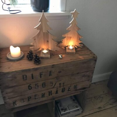 lysestage juletræ med stjerne
