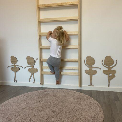 Balletdanser 4 stk på børneværelse - 50 cm høje