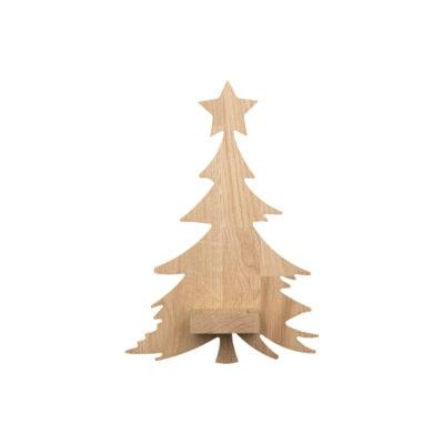 Væghængt lysestage - juletræ med stjerne