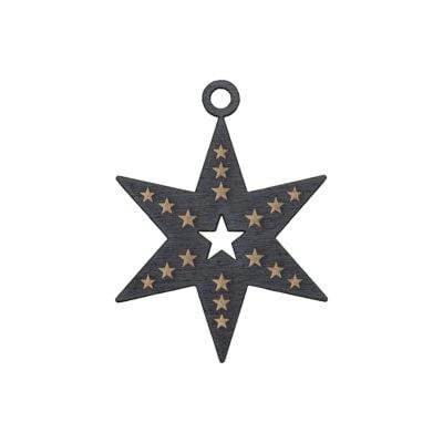 julestjerne med stjerner